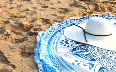 Serviette de plage ronde : un indispensable de l'été